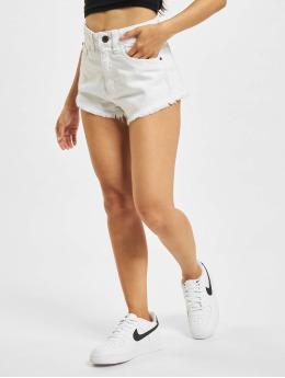 Urban Classics Frauen Shorts Denim in weiß