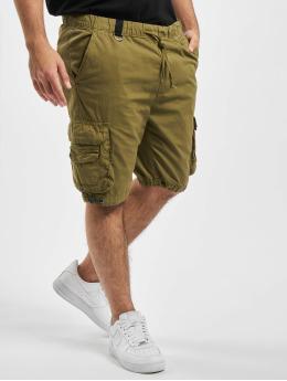 Urban Classics Shortsit Double Pocket oliivi