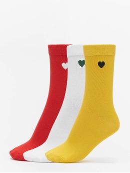 Urban Classics Skarpetki Heart Socks 3-Pack zólty
