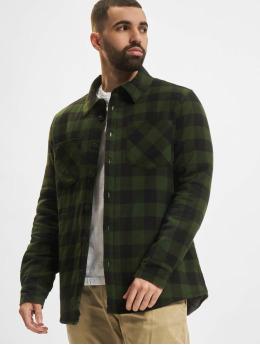 Urban Classics Skjorta Padded Check Flannel  svart