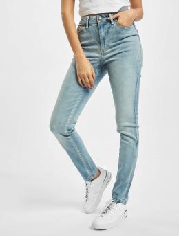 Urban Classics Slim Fit Jeans Ladies High Waist modrá