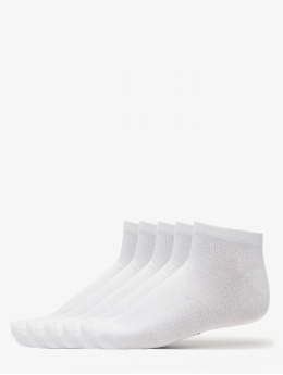 Urban Classics Socks 5-Pack Logo No Show  white