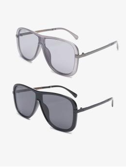 Urban Classics Sonnenbrille Sunglasses Milos 2-Pack schwarz