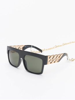 Urban Classics Sonnenbrille Sunglasses Zakynthos With Chain schwarz