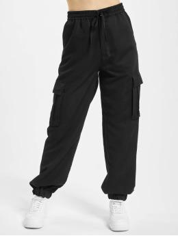 Urban Classics Spodnie Chino/Cargo Viscose Twill  czarny