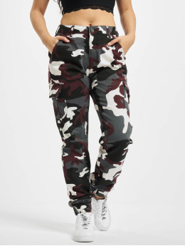 Urban Classics Spodnie Chino/Cargo Ladies High Waist Camo moro
