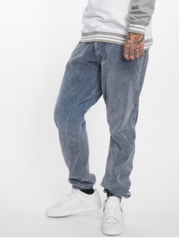 Urban Classics Spodnie do joggingu Acid Washed Corduroy indygo