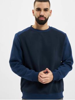 Urban Classics Svetry 2-Tone Fake Raglan modrý