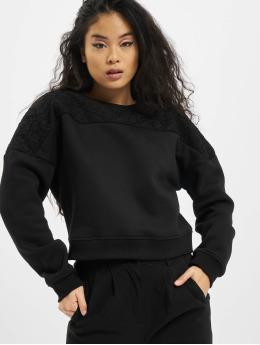 Urban Classics Sweat & Pull Short Oversized Lace Inset noir