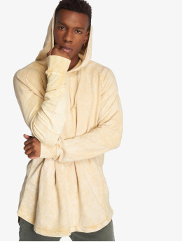 Urban Classics Sweat capuche Terry Acid Washed Long Shaped beige
