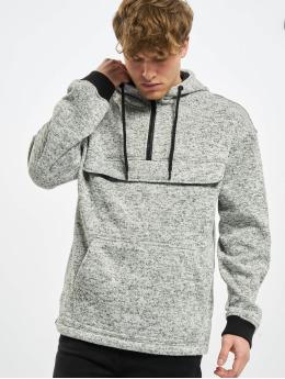 Urban Classics Sweat capuche Knit Fleece Pull Over gris