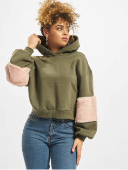 Urban Classics Sweat capuche Ballon Sleeve olive