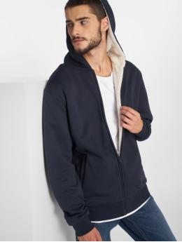 Urban Classics Sweat capuche zippé Sherpa Lined bleu