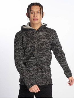 Urban Classics Sweat capuche zippé Winter Knit noir