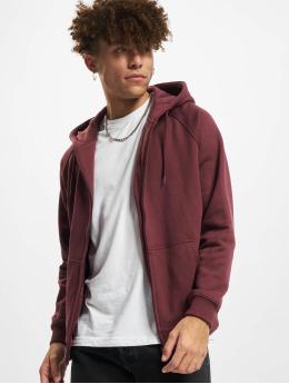 Urban Classics Sweat capuche zippé Blank rouge