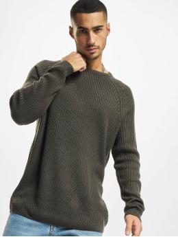 Urban Classics Swetry Ribbed Raglan szary
