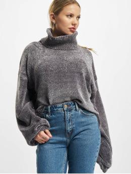 Urban Classics Swetry Ladies Short Chenille Turtleneck szary