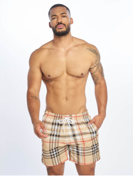 Urban Classics Swim shorts Check beige