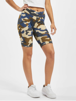 Urban Classics Szorty Ladies High Waist Camo Tech Cycle  moro