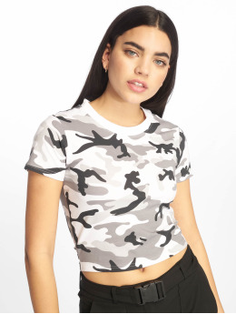 Urban Classics T-paidat Stretch Jersey Cropped camouflage