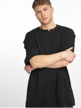 Urban Classics T-paidat Garment Dye Oversize Pique musta