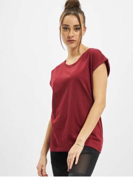 Urban Classics T-paidat Ladies Organic Extended Shoulder Tee punainen