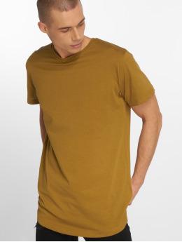 Urban Classics T-paidat Shaped Long ruskea