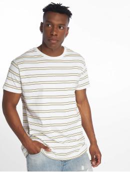 Urban Classics T-Shirt Multicolor Stripe blanc