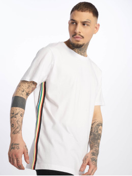Urban Classics T-Shirt Side Taped blanc