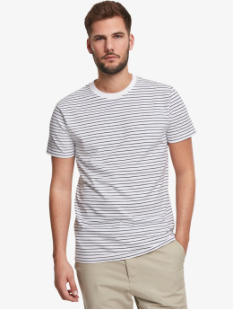 Urban Classics T-Shirt Basic Stripe blanc