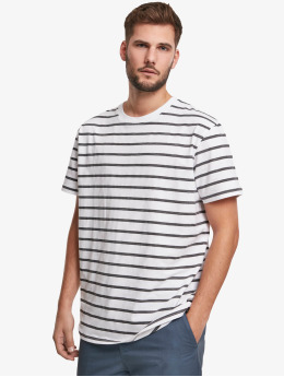 Urban Classics T-Shirt Basic Stripe Oversized  blanc