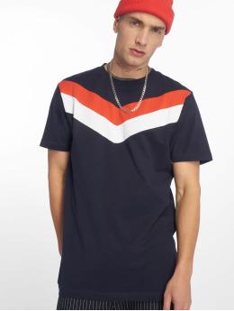 Urban Classics t-shirt Arrow Panel blauw