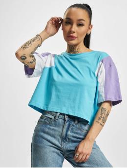 Urban Classics t-shirt 3-Tone Short Oversize blauw