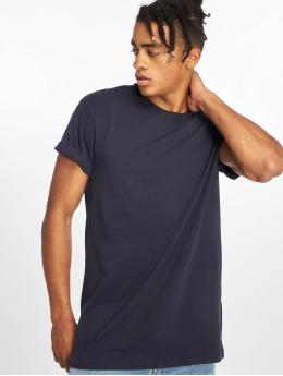 Urban Classics t-shirt Pigment Dye High Low blauw