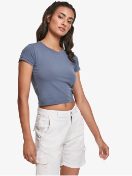 Urban Classics t-shirt Stretch Jersey Cropped  blauw