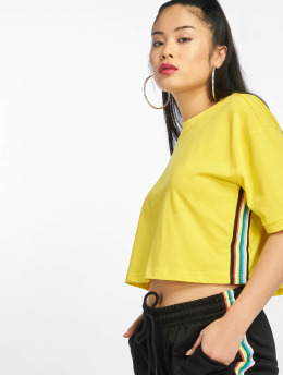 Urban Classics T-Shirt Multicolor Side Taped gelb