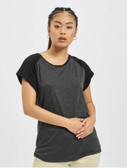 Contrast Raglan T-Shirt Charcoal/Black