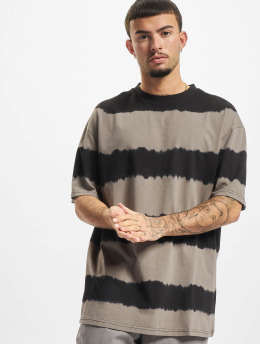 Urban Classics T-Shirt Oversized Striped Tye Dye grau