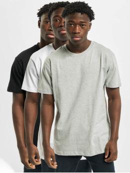 Urban Classics t-shirt Basic 3-Pack grijs