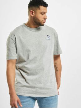 Urban Classics t-shirt Big Wave grijs