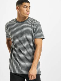 Urban Classics T-Shirt Basic Stripe gris