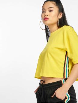 Urban Classics T-Shirt Multicolor Side Taped jaune