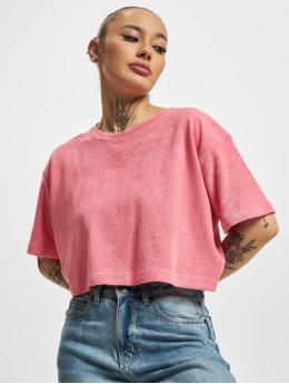 Urban Classics T-Shirt Short Towel magenta