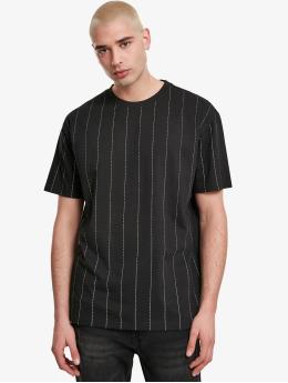 Urban Classics T-Shirt Oversized Pinstripe noir