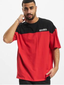 Urban Classics T-Shirt Oversized Color Block Logo red