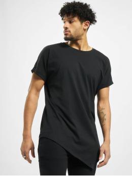 Urban Classics T-shirt Asymetric Long svart