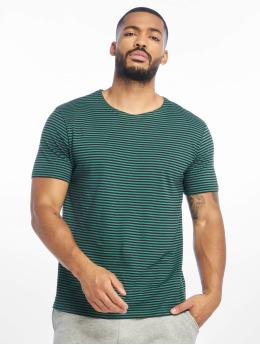 Urban Classics T-Shirt Yarn Dyed Baby Stripe vert