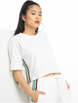 Urban Classics T-Shirt Multicolor Side Taped weiß