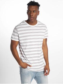 Urban Classics t-shirt Multicolor Stripe wit