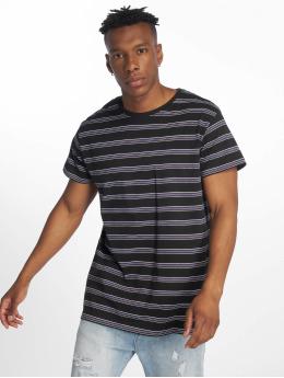 Urban Classics t-shirt Multicolor Stripe zwart
